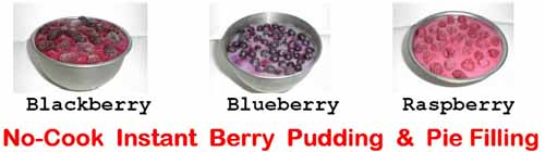 Near-Zero-Calorie Berry Puddings